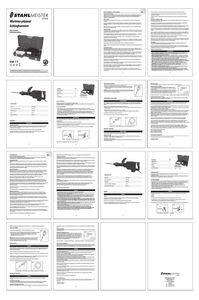 Mode d'emploi Marteau-piqueur STM0011