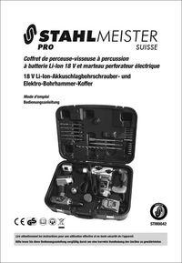 Mode d'emploi - Coffret perceuse-visseuse et marteau perforateur - STM0042