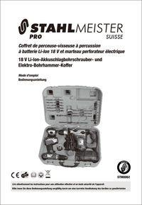 Coffret de perceuse-visseuse et perforateur Modèle STM0062