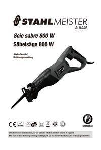 Scie sabre 800 W modèle STM0064C